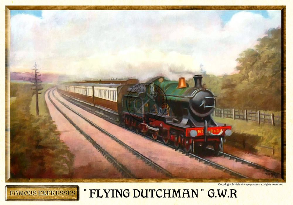 GWR Flying Dutchman Vintage Steam Train Poster